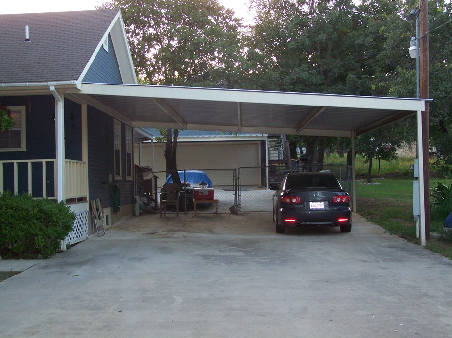 Carport carports attached to house for Carport deck