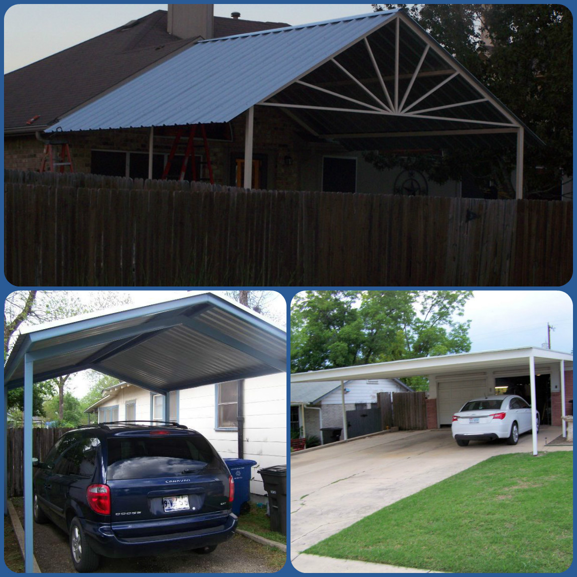 Custom Metal Carports : Carport metal awning custom sized patio covers