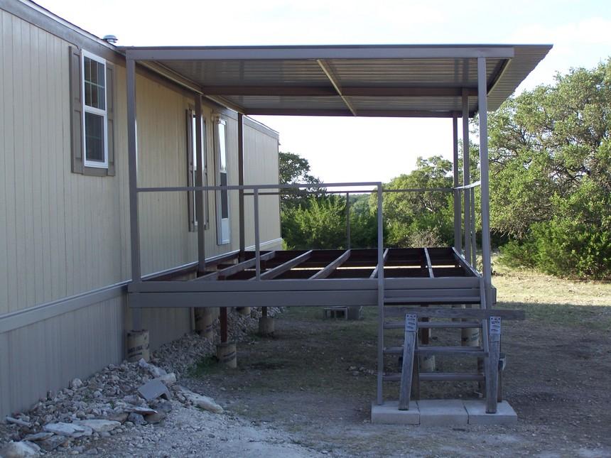 Ranch5 carport patio covers awnings san antonio best for Carport deck