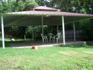 Backyard All Steel Custom Pavilion West San Antonio