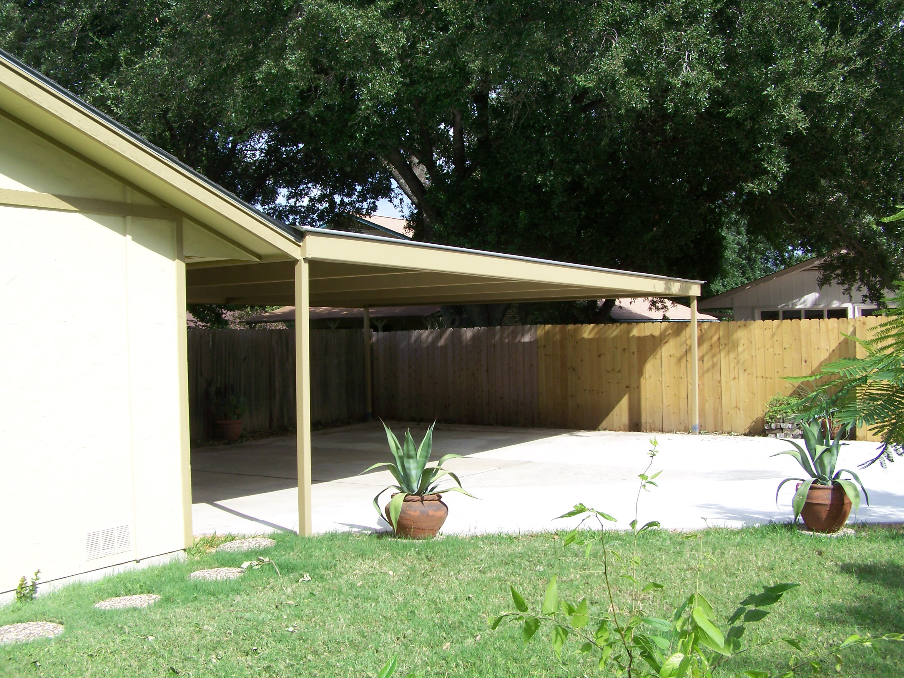 Attached carport north san antonio for Pictures of carports attached to house