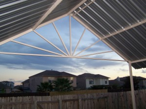 Custom Steel Sunburst Patio Cover Universal City