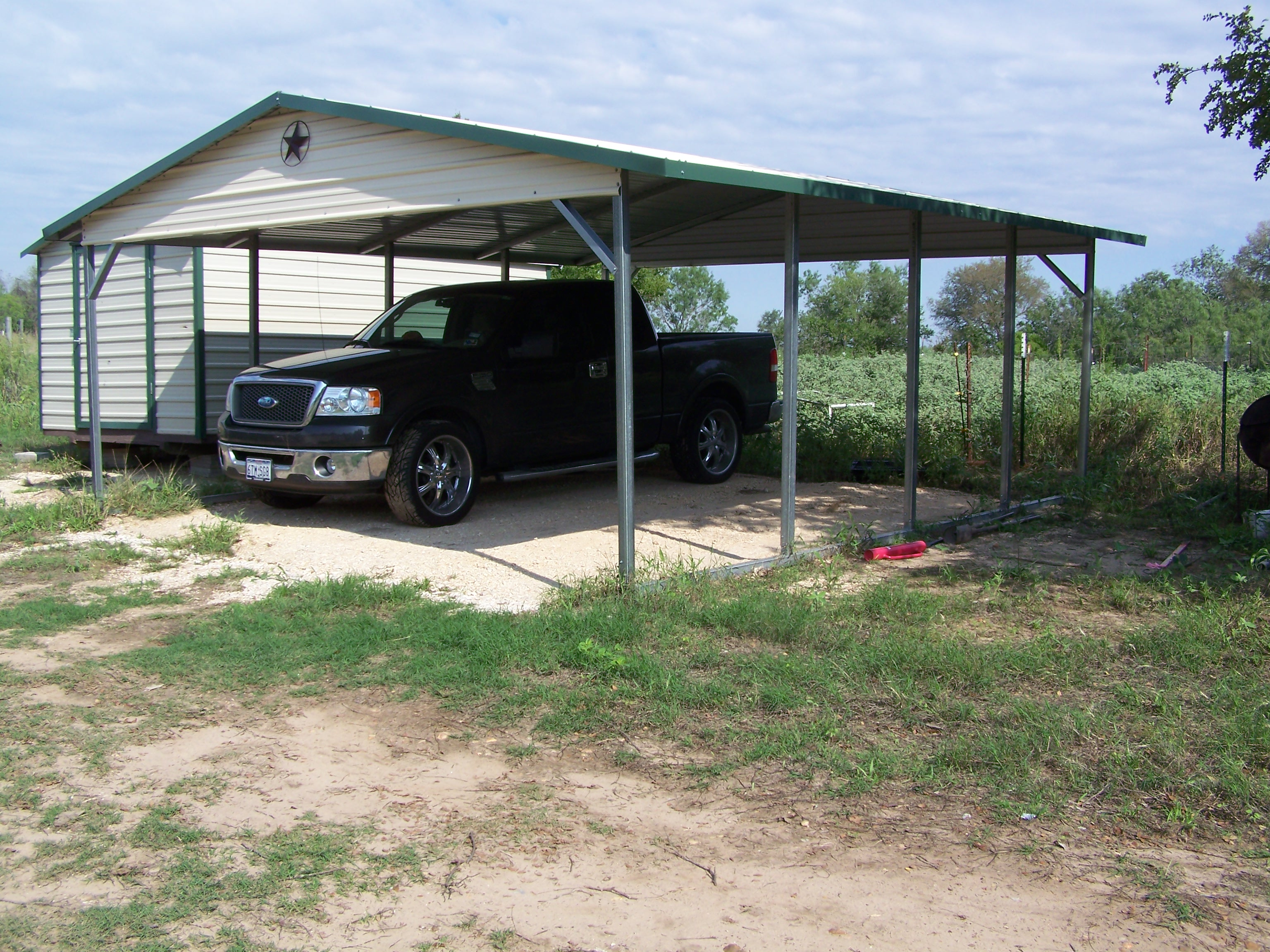 Carport Kits For Mobile Home : Mobile home metal roof awning carport la vernia