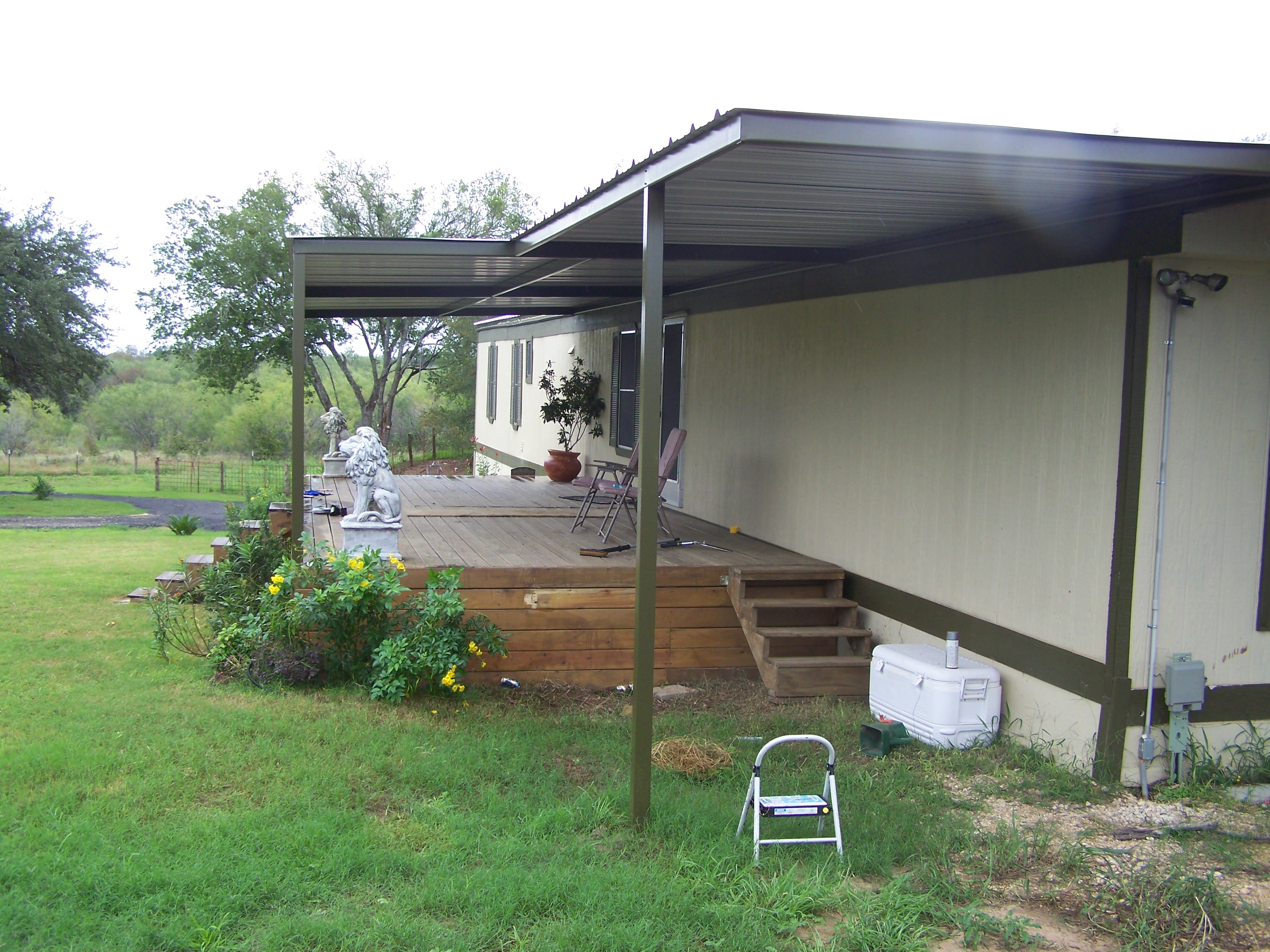 Aluminum Carport Awnings : Mobile home metal roof awning carport la vernia