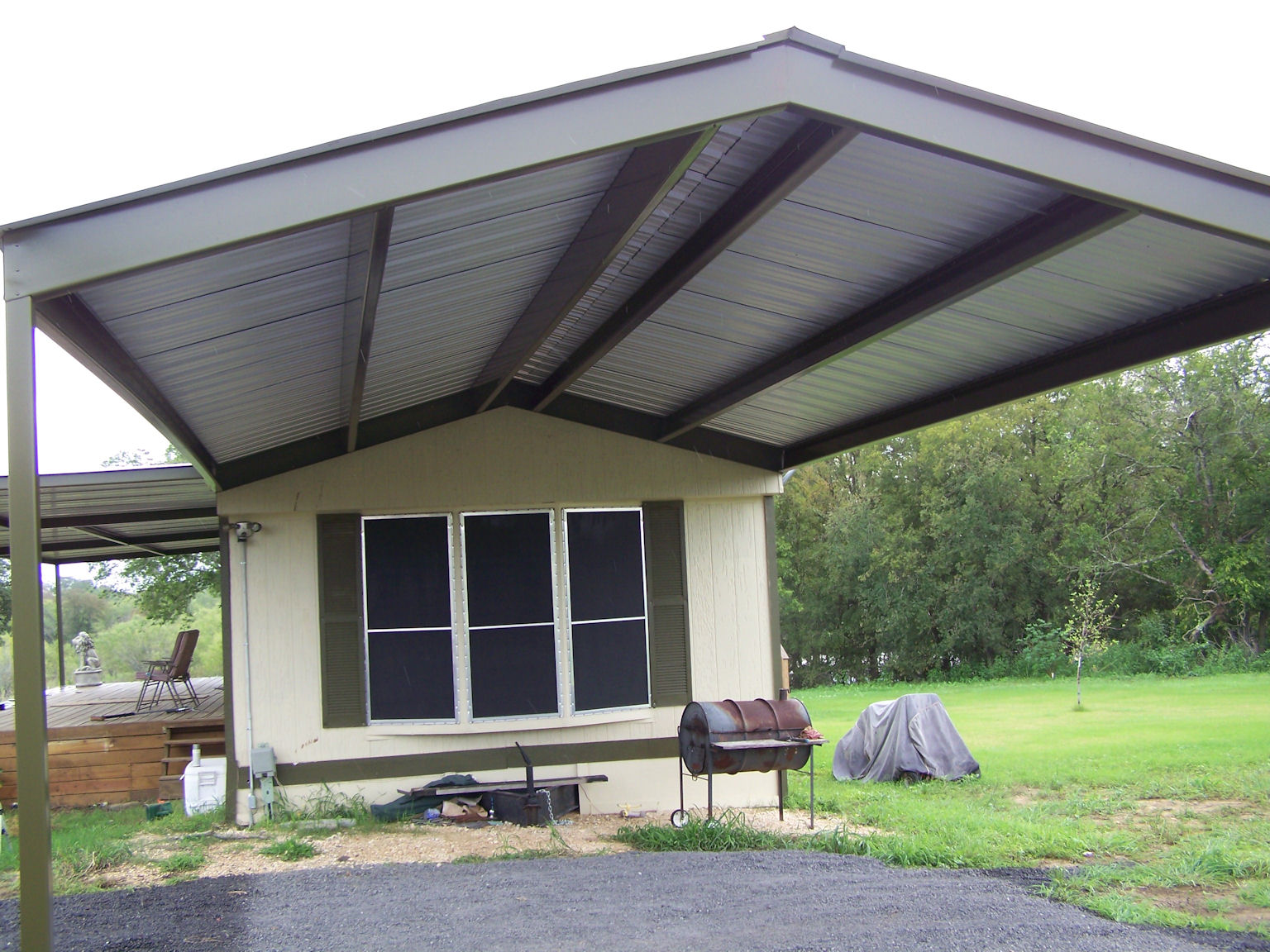 Mobile Home Metal Roof Awning Carport La Vernia