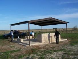 Metal Gabled Pavilion Atascosa County Charolette Texas