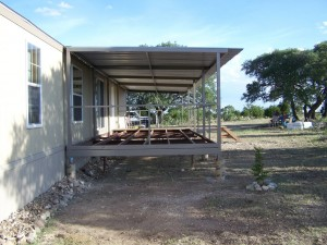 Ranch House Steel Patio Cover Deck And Stairs Junction Texas