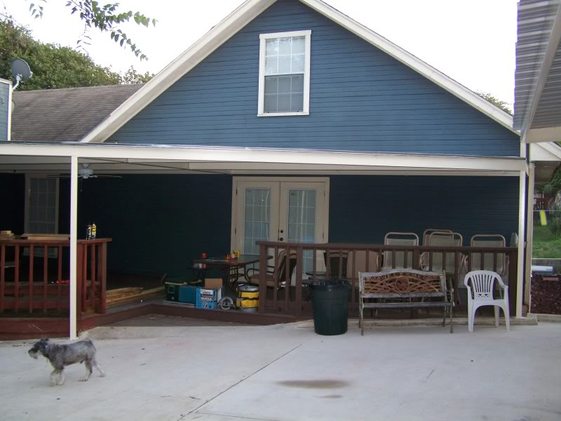 Metal carport awning patio cover swimming pool south bexar for Carport deck