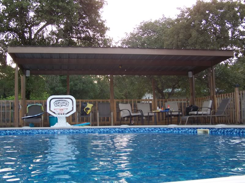 metal carport awning patio cover swimming pool south bexar county