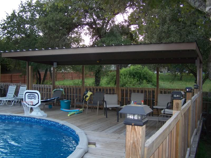 Metal Carport Awning Patio Cover Swimming Pool South Bexar ...