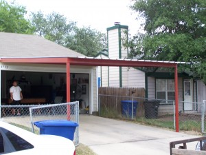 Custom Attached Carport Southeast San Antonio