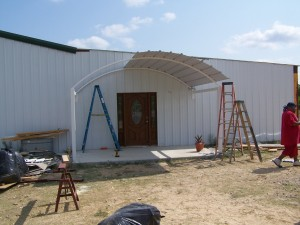 2300 Sq Ft All Steel Addition to Existing Home Indoor Swimming Pool Awning Carport San Antonio