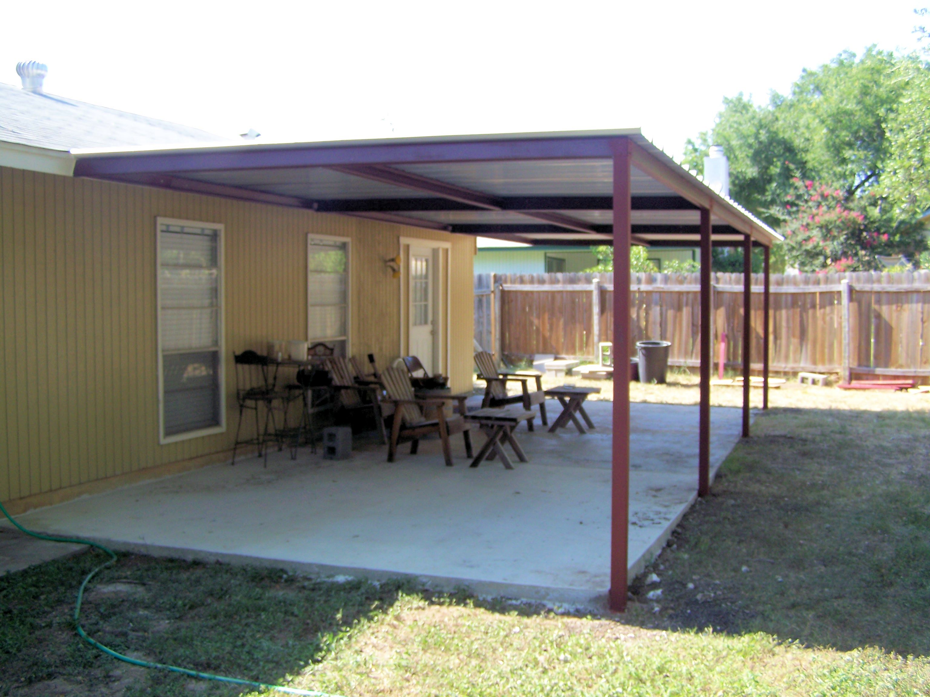 Metal Patio Cover Plans Simple Porch Northwest San Antonio