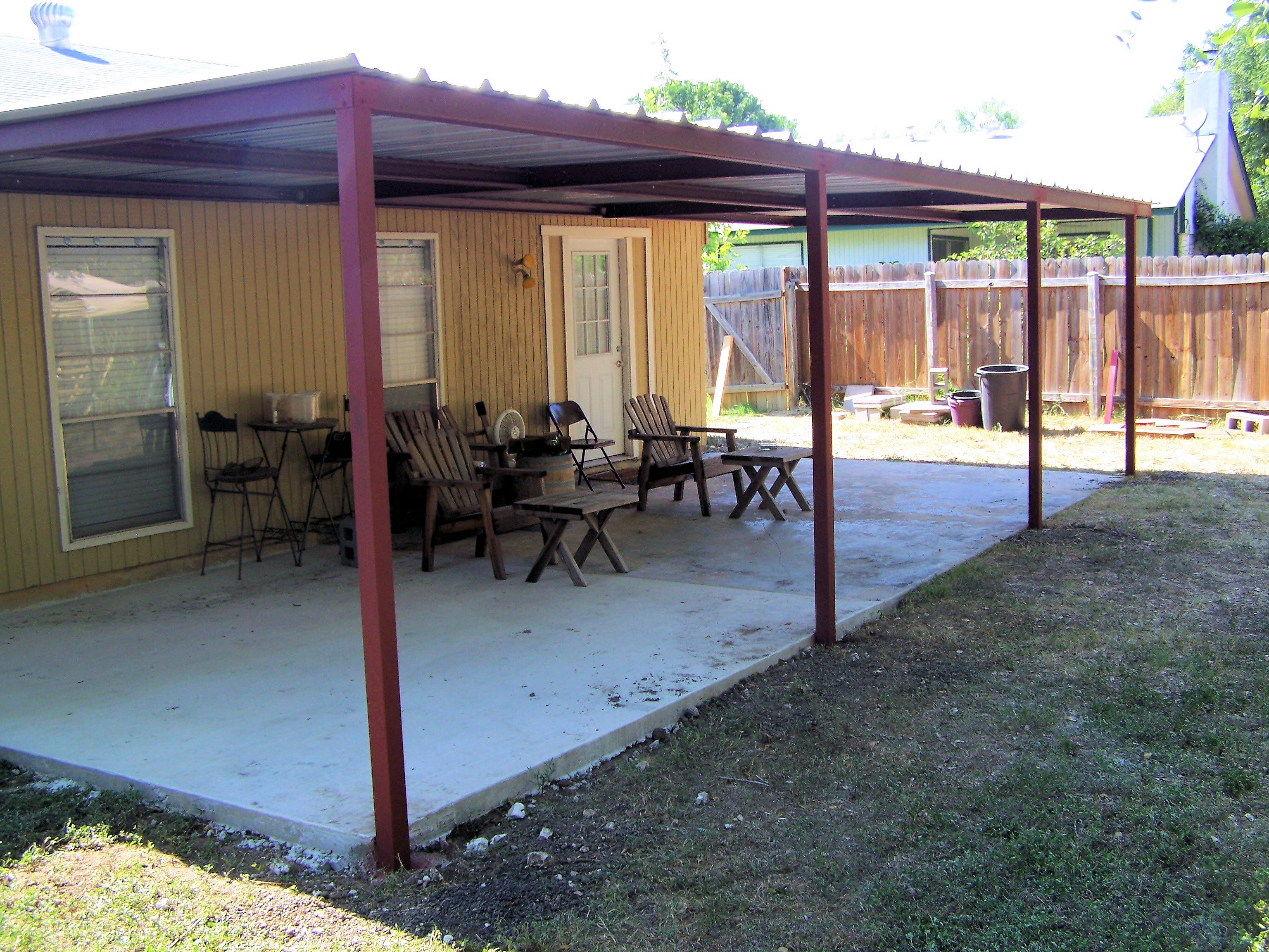 Custom Metal Patio Awning Boerne Texas - Carport Patio ...