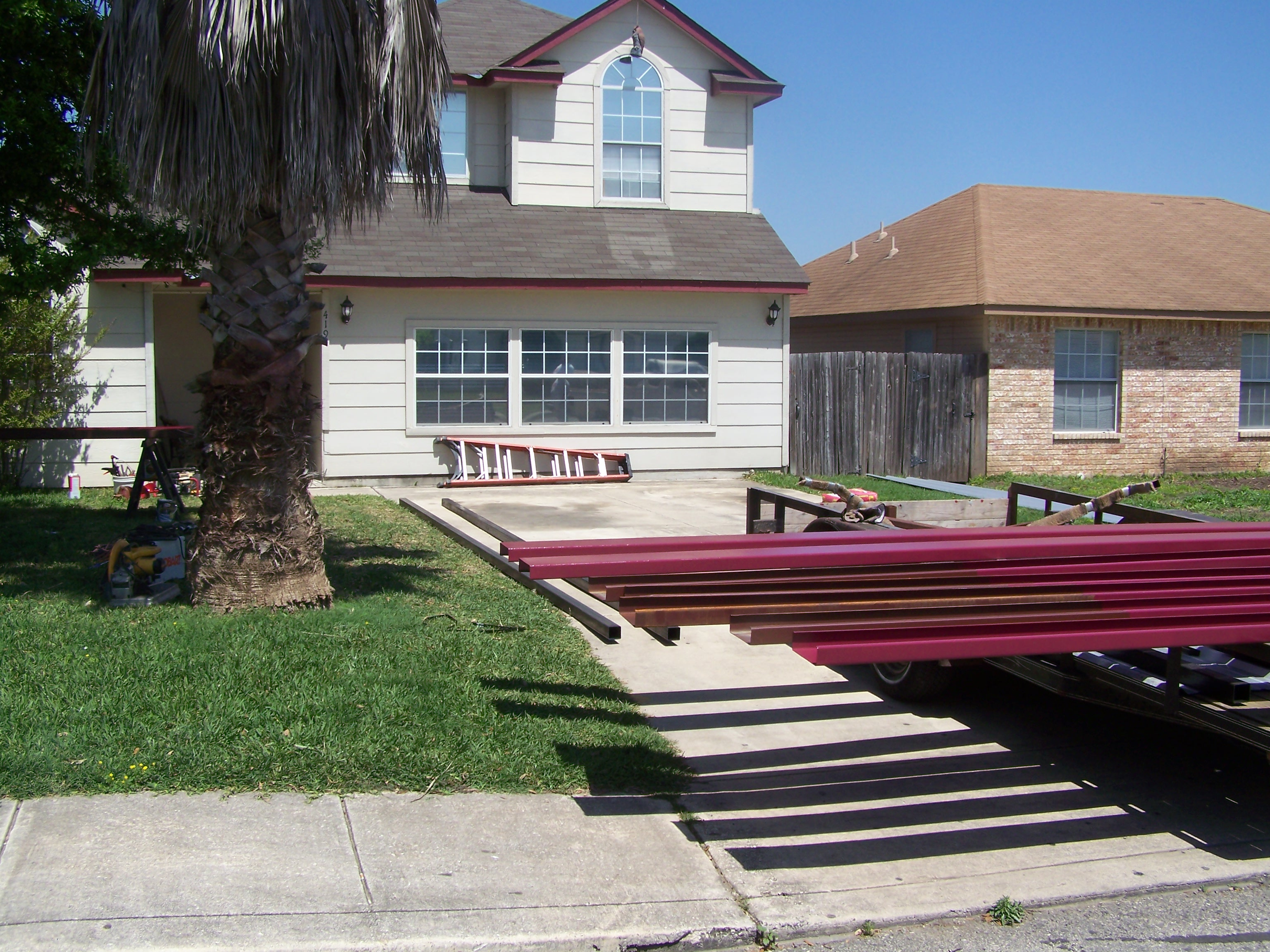Custom Metal Carport And Porch Addition South San Antonio - Carport