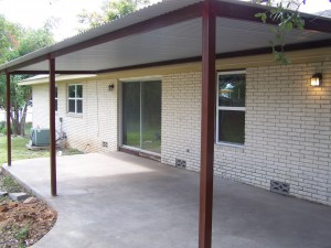Patio Cover Base Installation Without Any Options