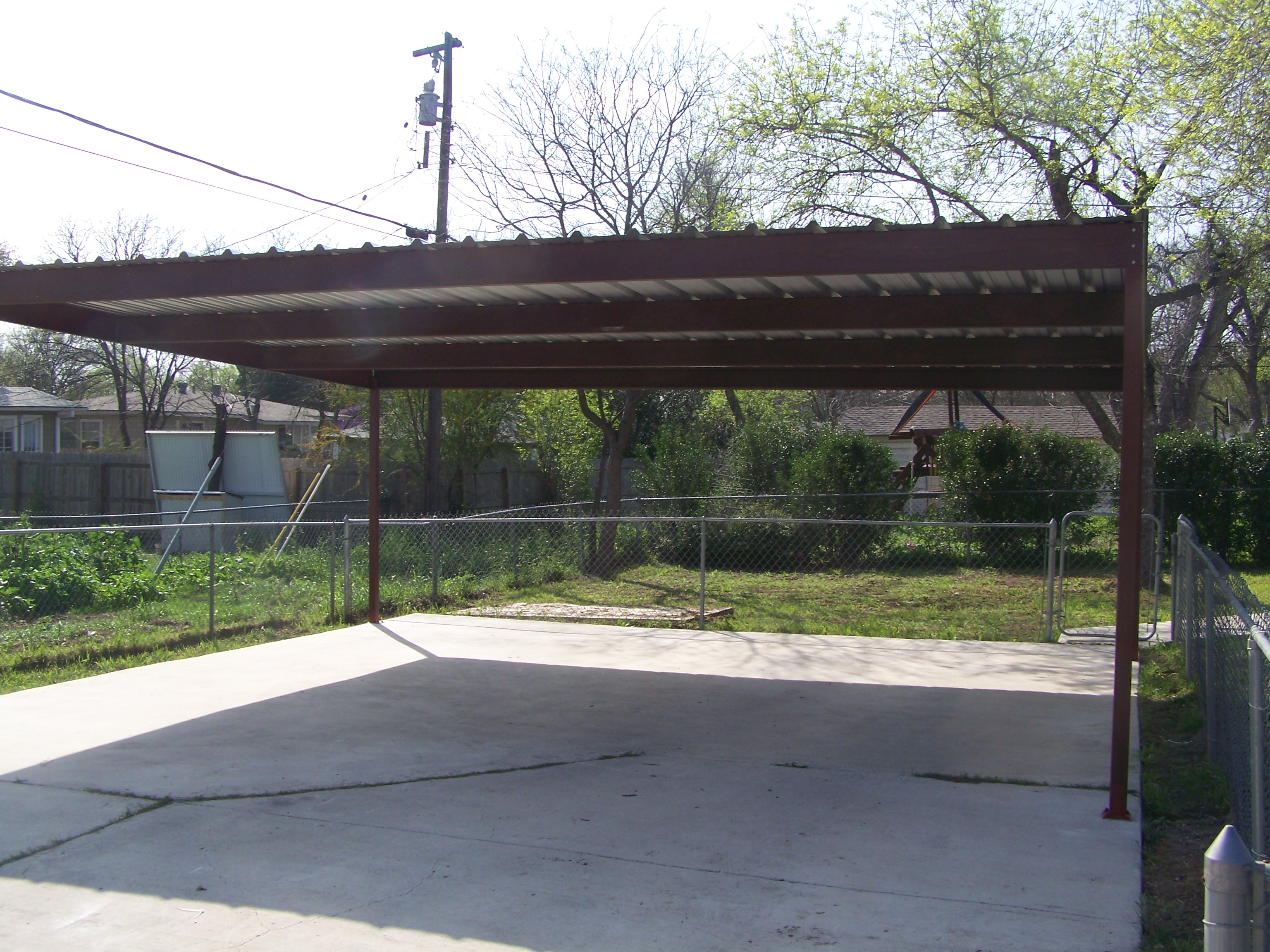 2 Car Metal Carport Flat : Aluminum awnings patio covers and carports autos we