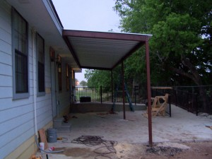 Commercial Steel Awning New Braunfels, Texas