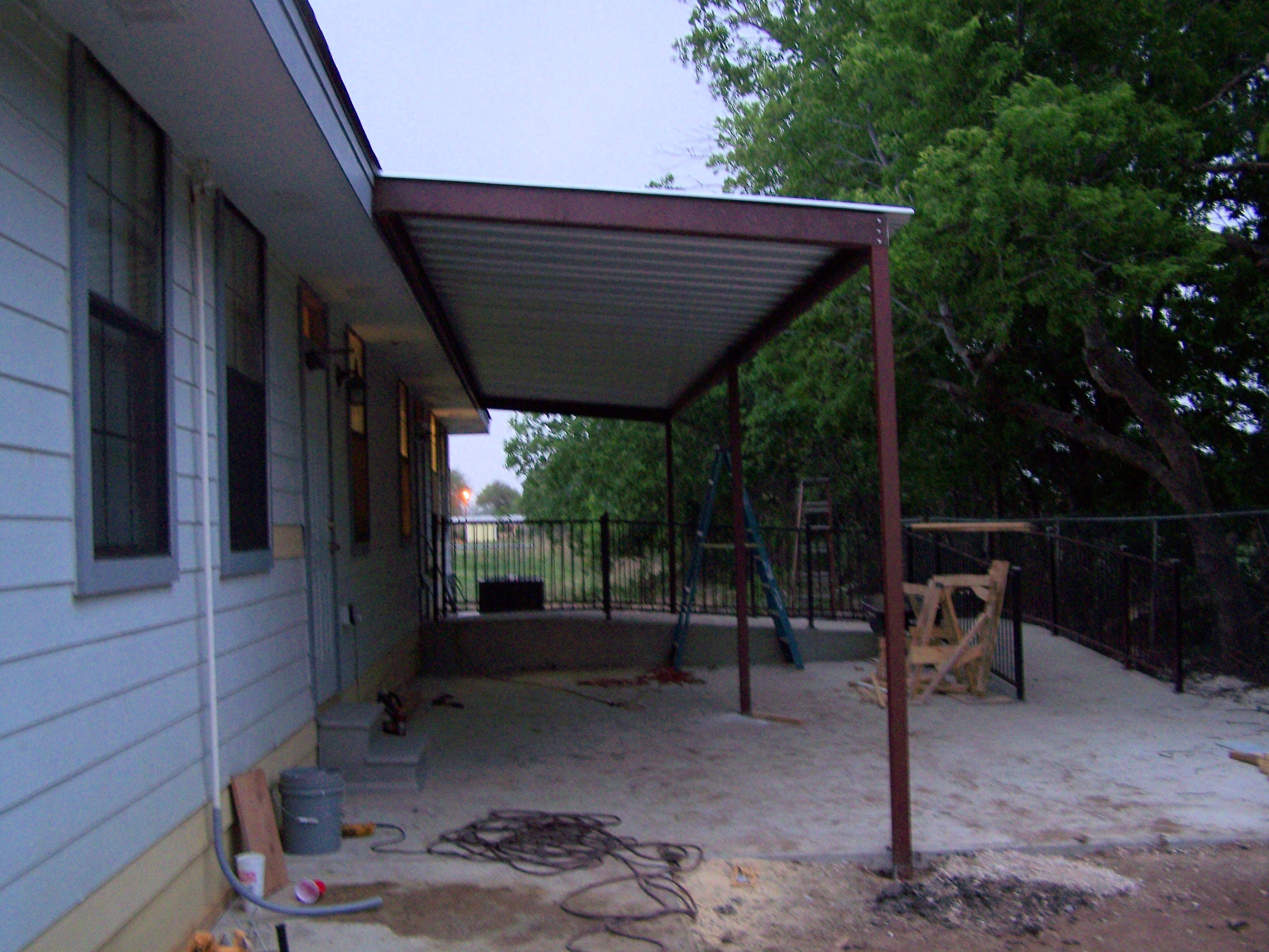 Commercial Steel Carports : Commercial steel awning new braunfels texas carport