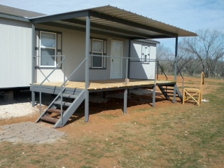 All Steel Awning Patio Cover Deck R& New Braunfels. Photo763. Mobile Home ... & Patio Awning With Deck New Braunfels Texas Installation - Carport ...