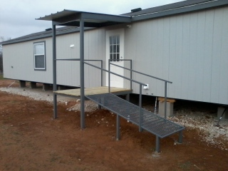 All Steel Awning Patio Cover Deck Ramp Charlotte Atascosa ...