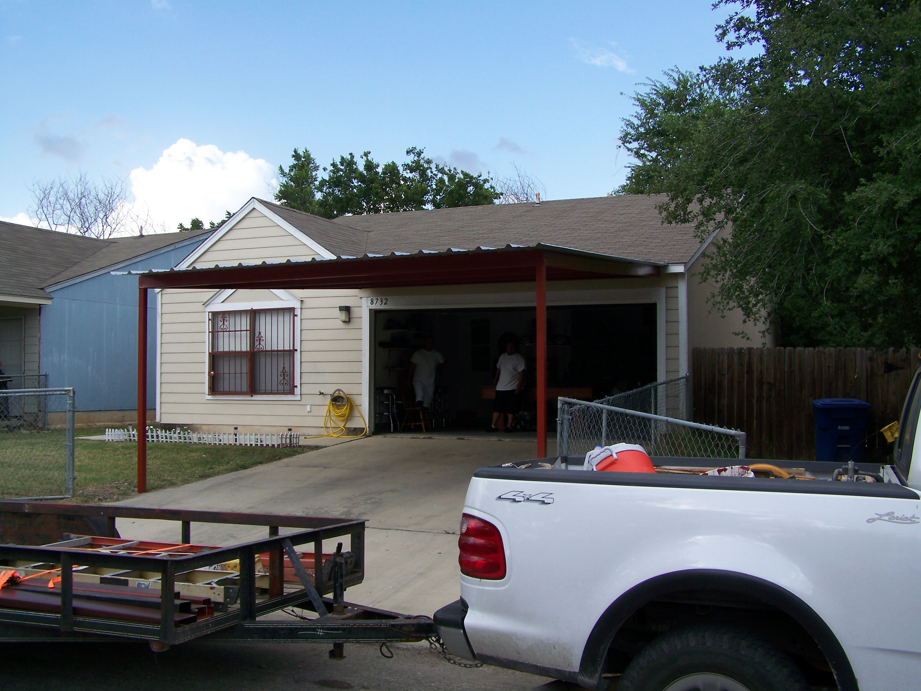 Custom Attached Carport Southeast San Antonio - Carport
