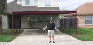 Carport picture san Antonio happy customer