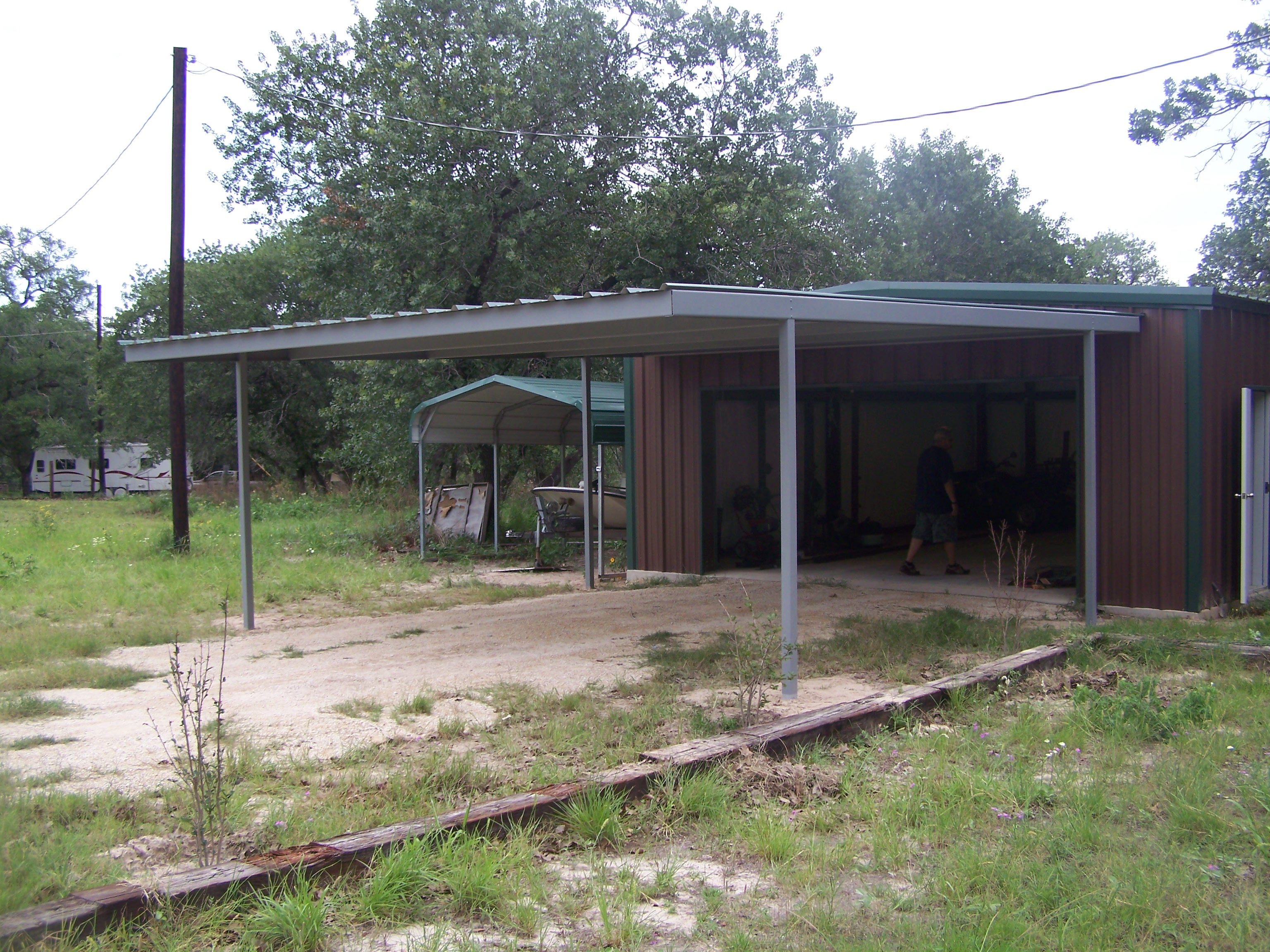 Attached carport wilson county carport patio covers for Shed with carport attached