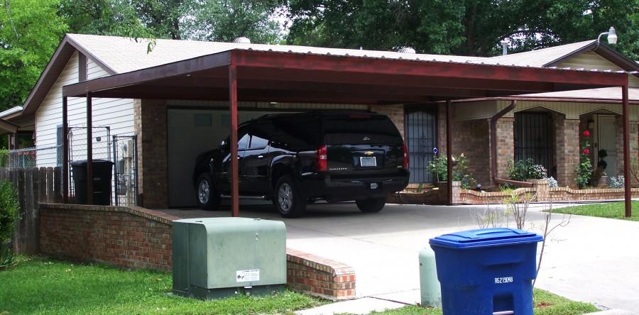 Two Car Attached Carport North San Antonio Carport Patio