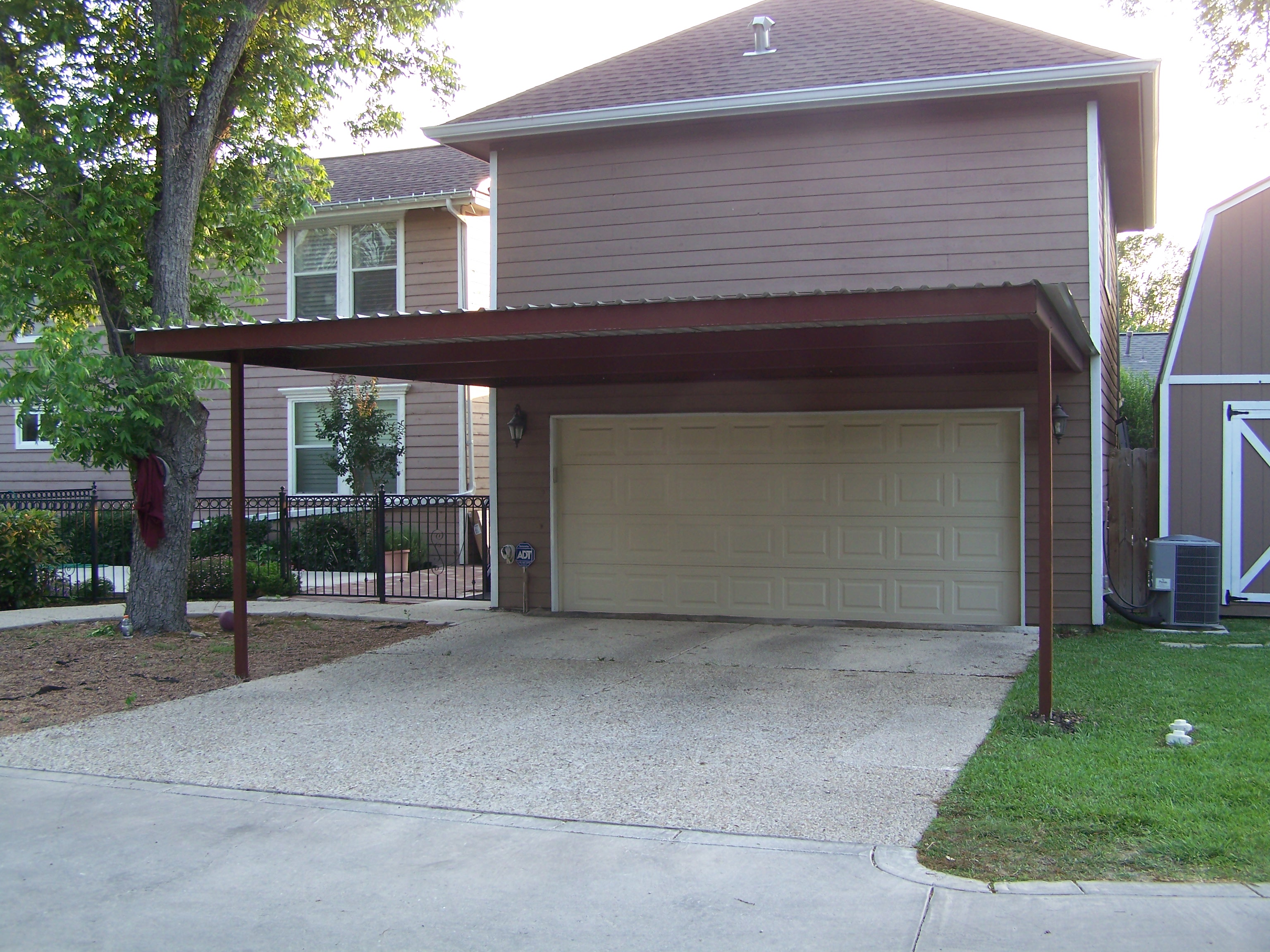 Alamo heights attached carport carport patio covers Garage carports