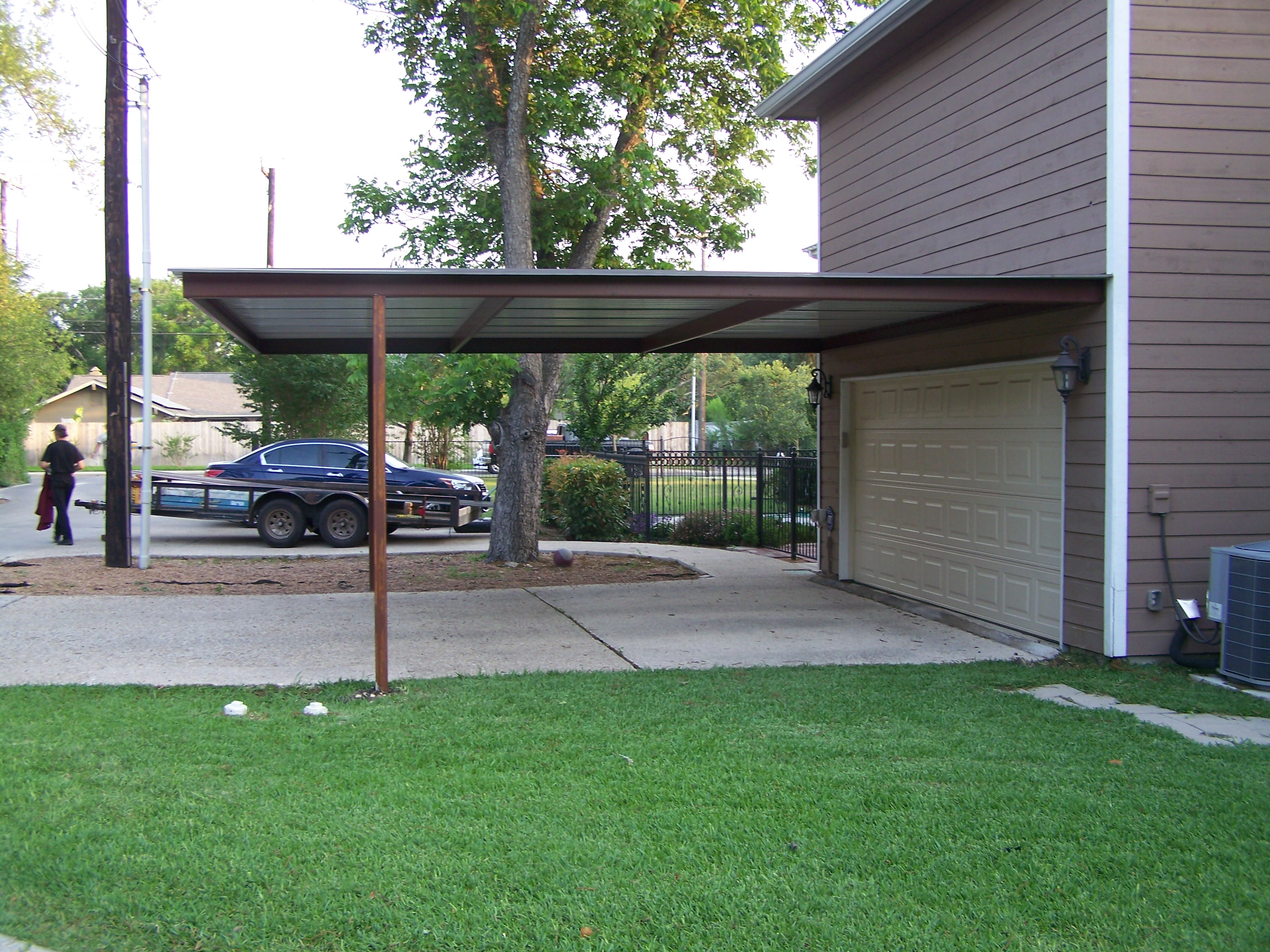 alamo heights attached carport carport patio covers. Black Bedroom Furniture Sets. Home Design Ideas