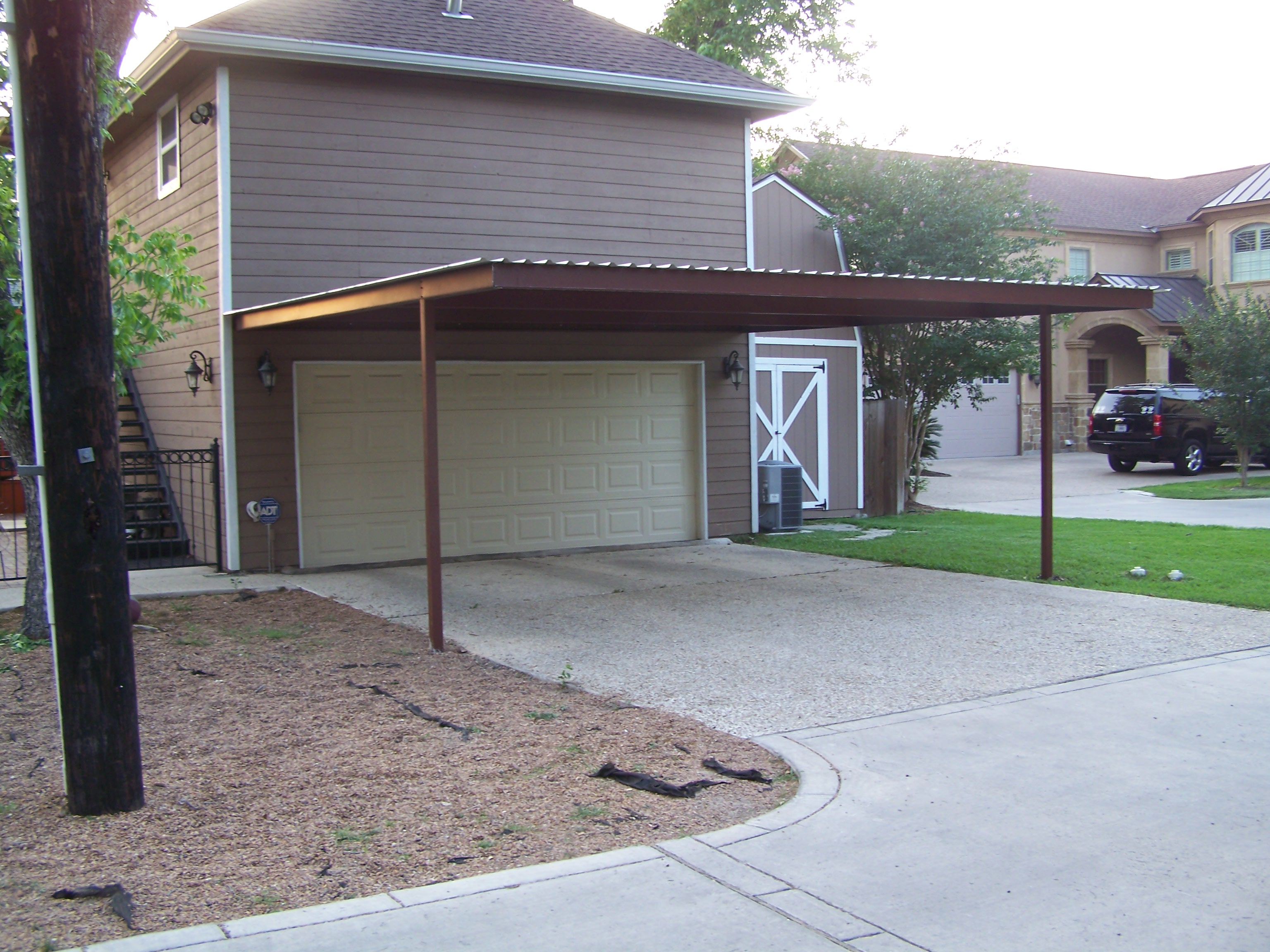 Alamo heights attached carport carport patio covers for 20x20 house