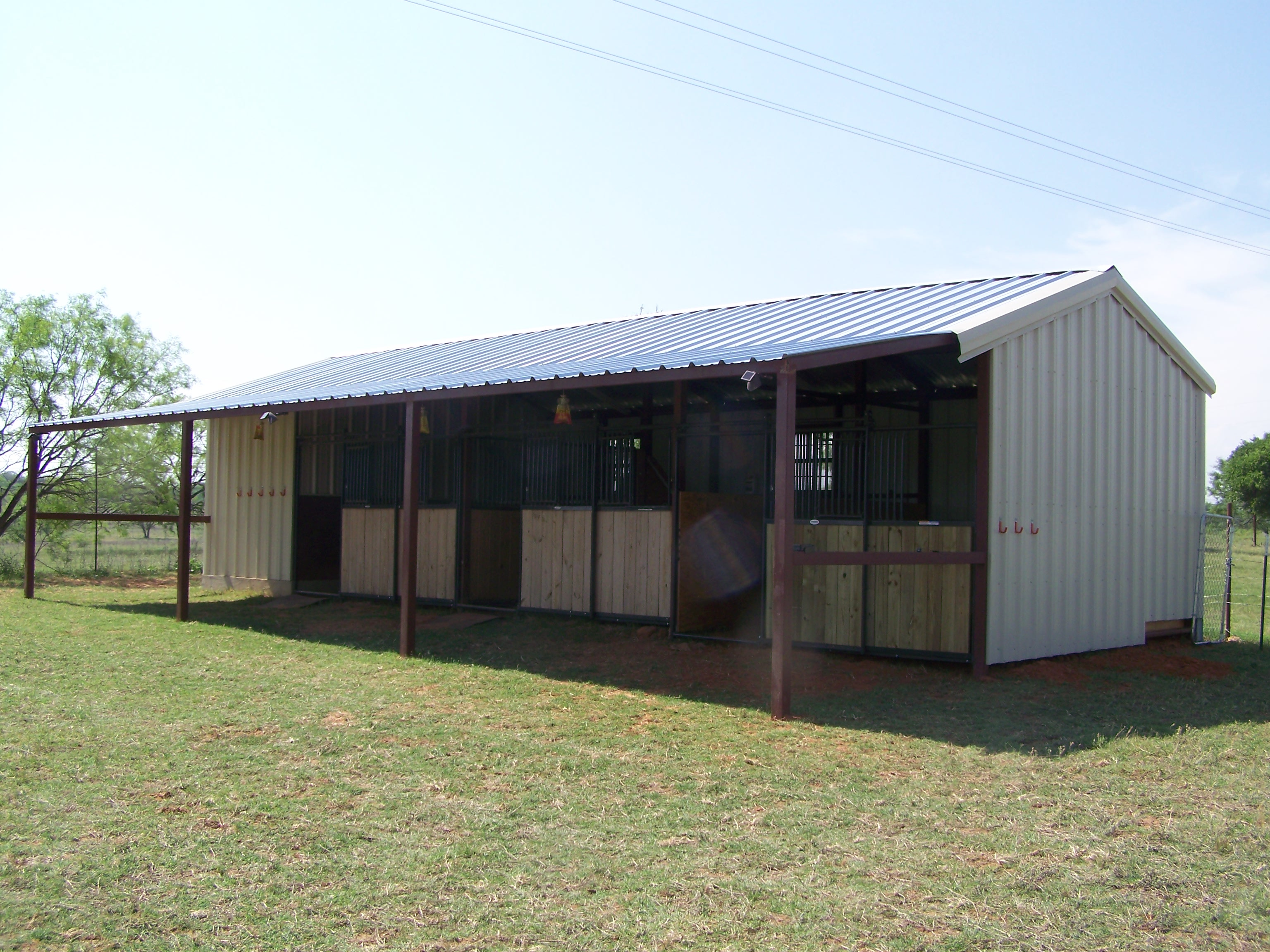 Kerrville texas steel addition to barn and awning for Carport additions