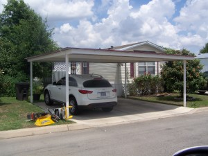 Detached Custom White Carport Leslie Road San Antonio
