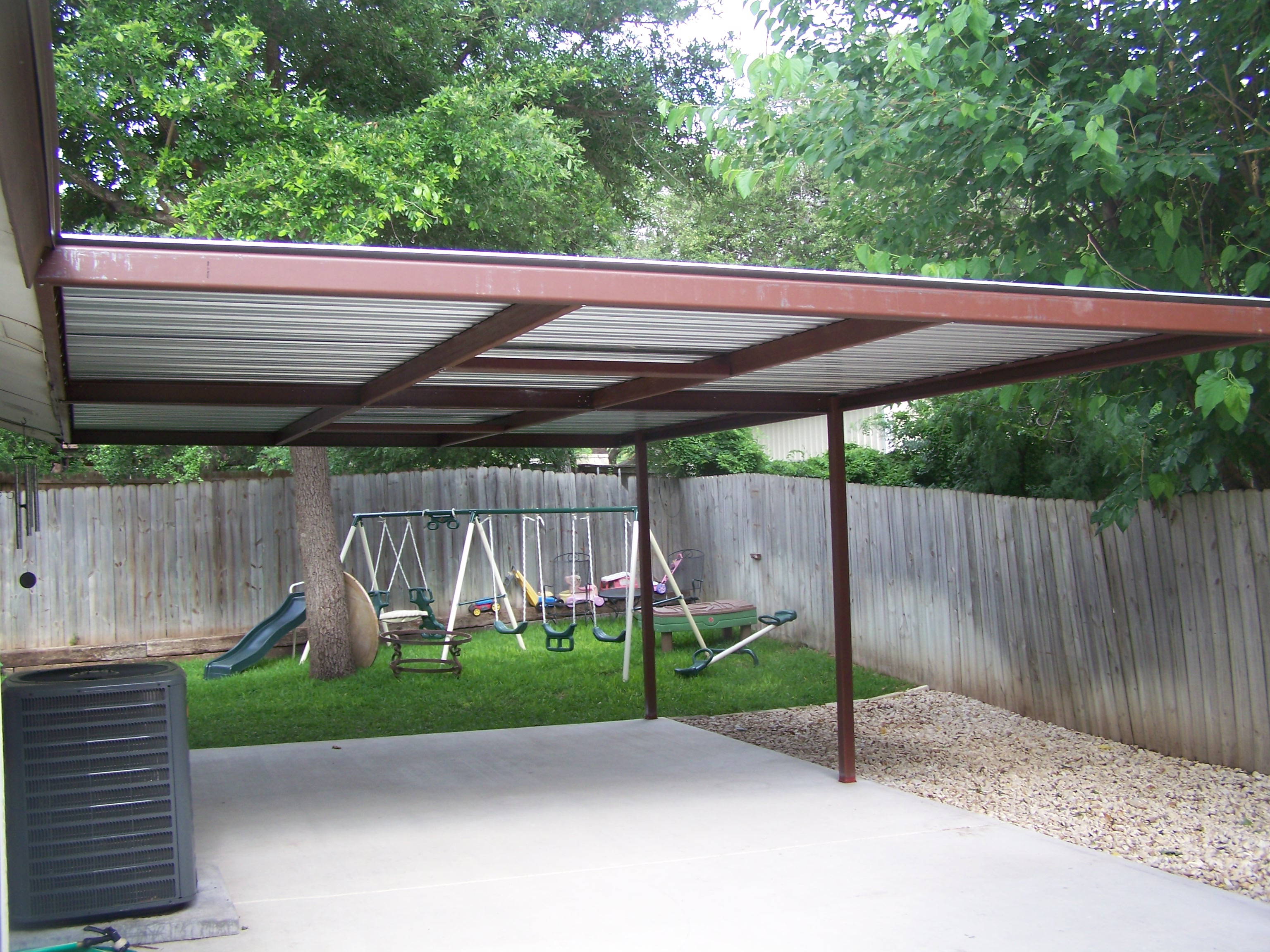 16x24 6 carport patio covers awnings san antonio for Carport deck
