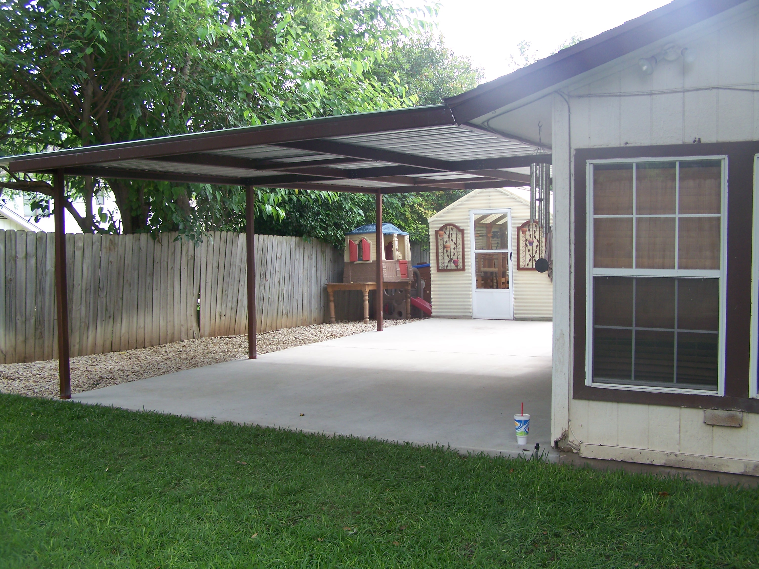 Custom home porch cover northwest san antonio carport for Carport deck