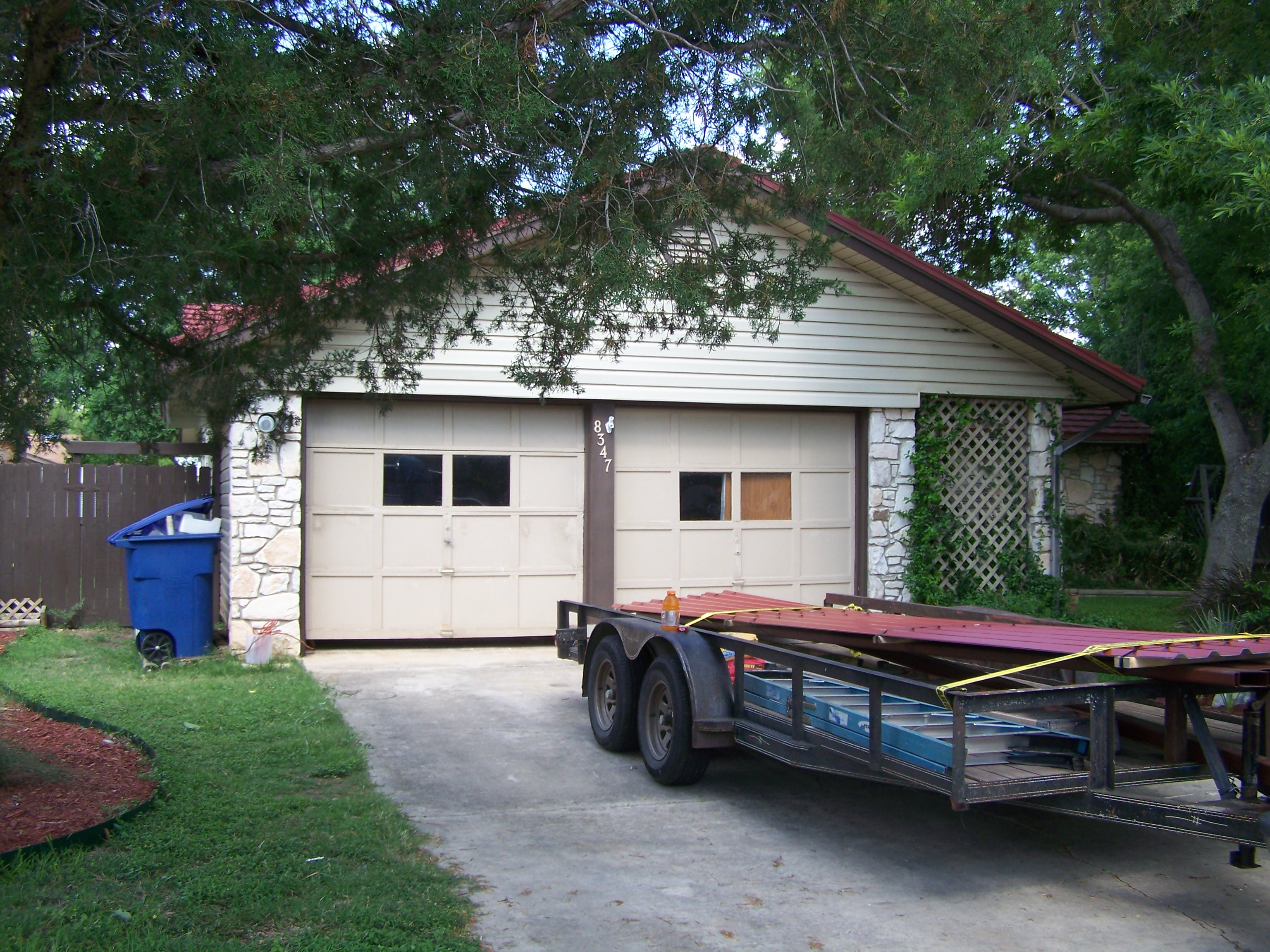 20x20 before NW side SA (1) - Carport Patio Covers Awnings ...