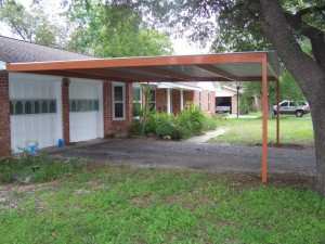 Two Car Custom Lean To Carport Airport Area San Antonio, Texas