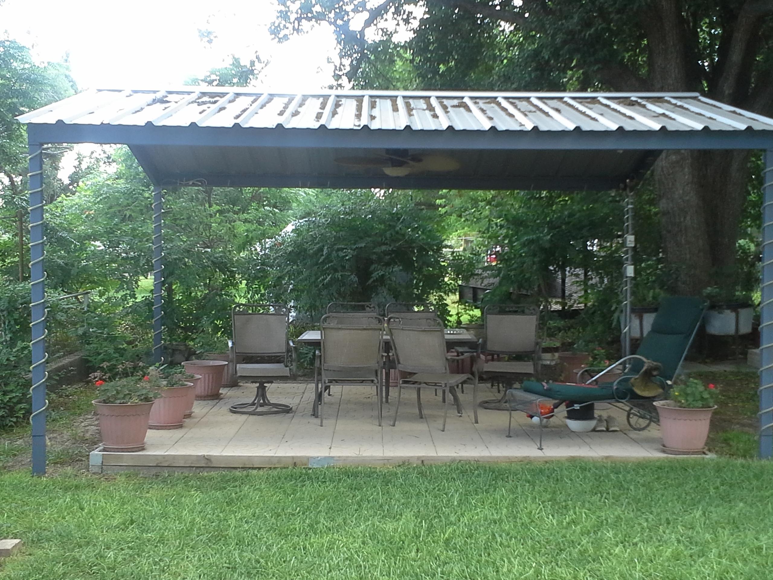 free standing patio covers metal. Exellent Standing McQueeny Texas Free Standing Metal Pavillion To Patio Covers Y