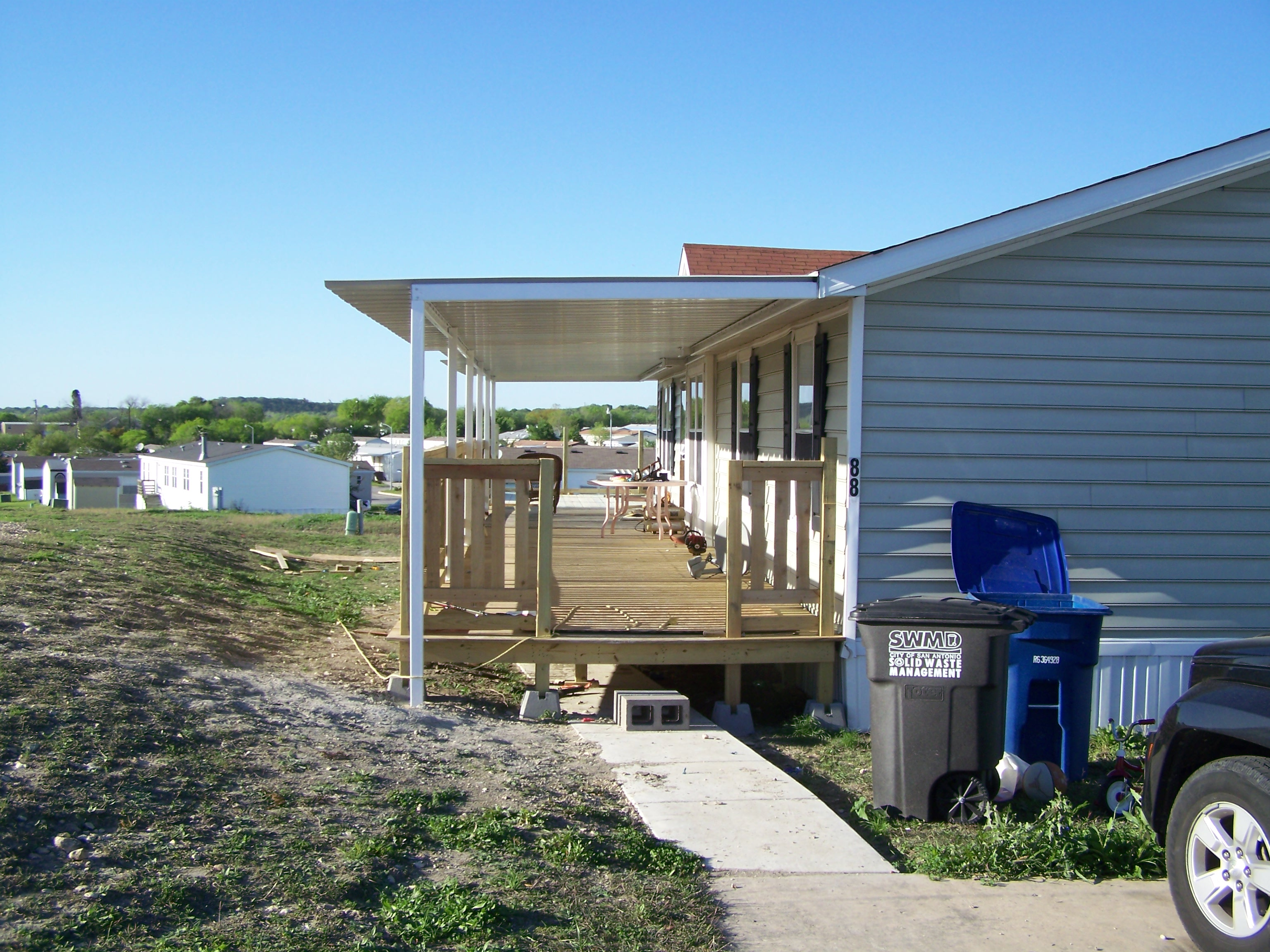 Custom Attached Awning Mobile Home North San Antonio