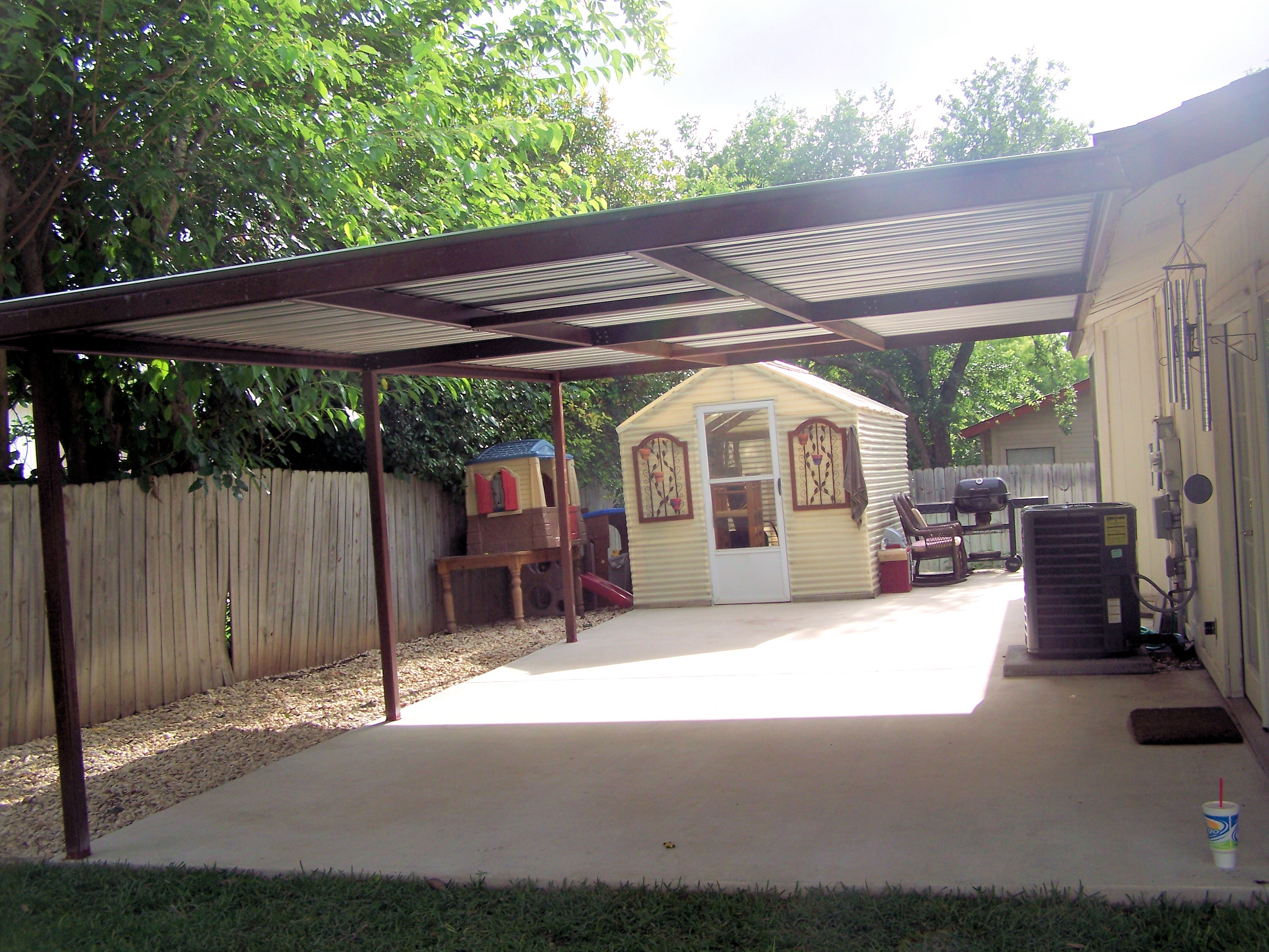 metal lean to carport
