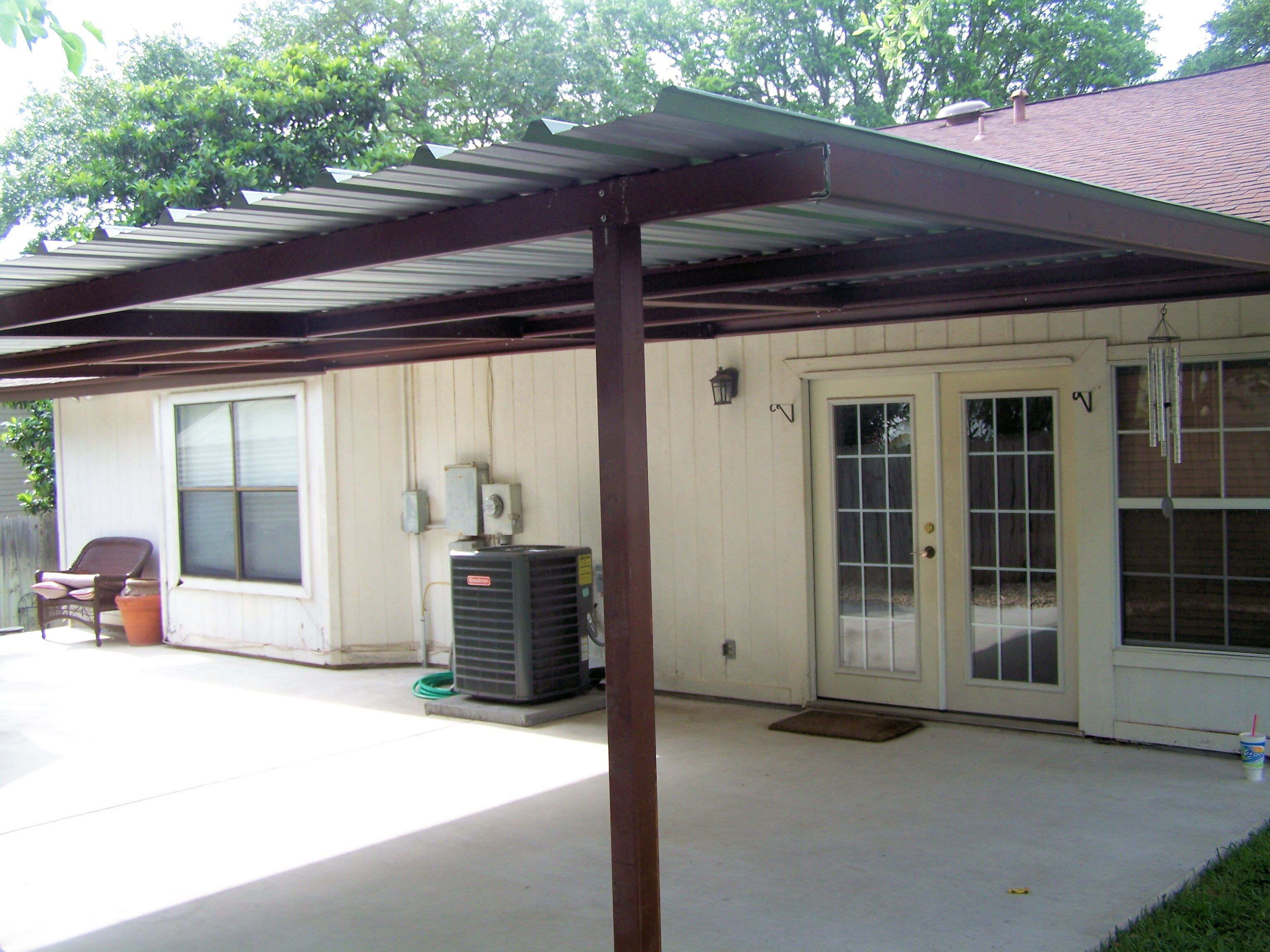 Carport lean to carports freestanding pictures for Carport deck