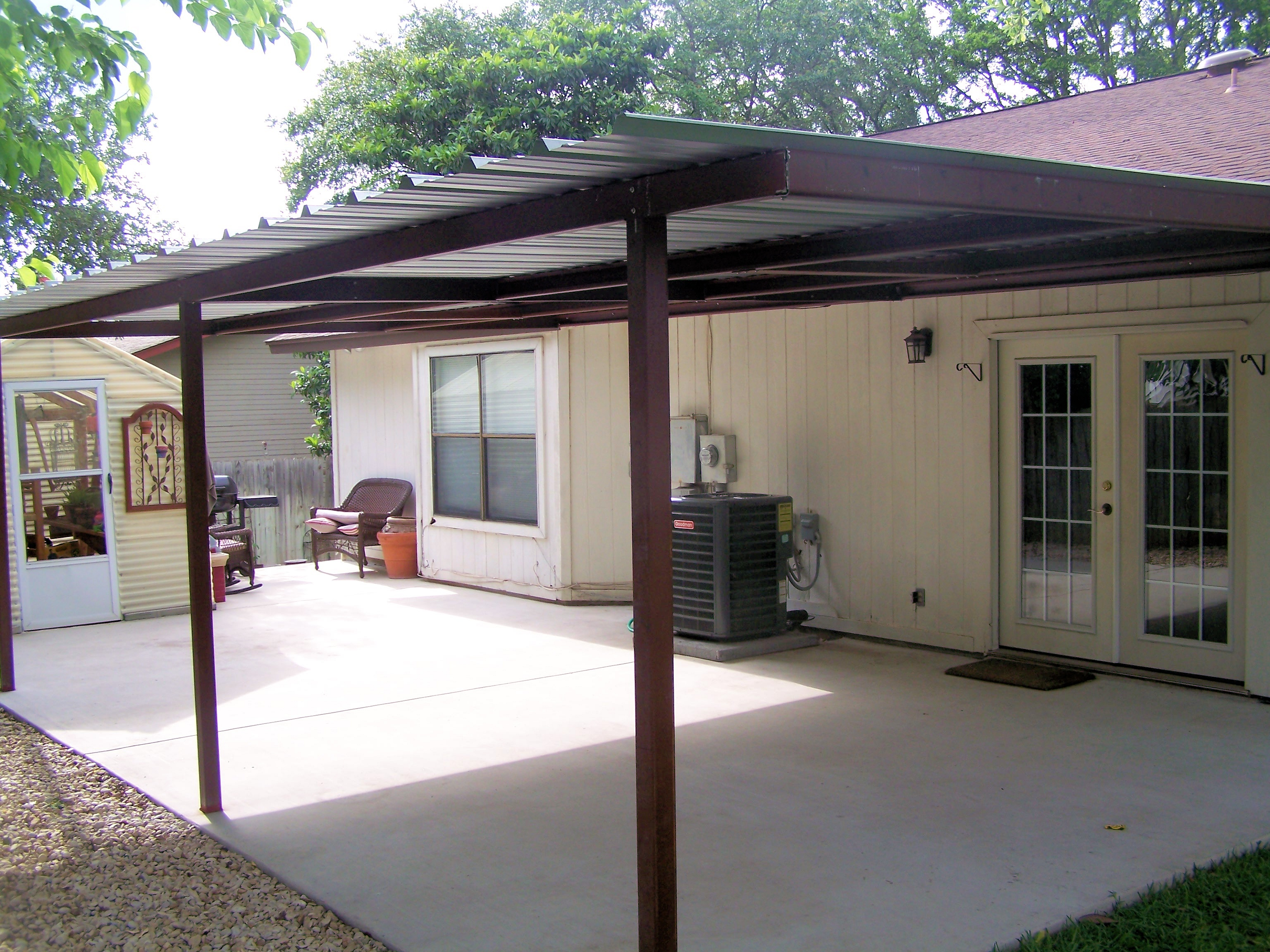 Attached Lean To Patio Cover North West San Antonio Carport