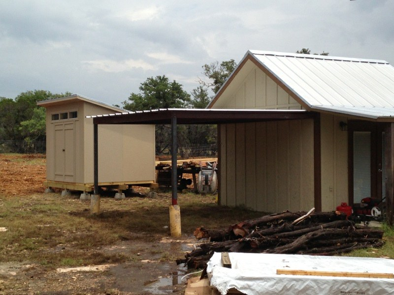Gabled Carport and Lean To Awning Wimberly, Texas ...