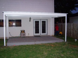 Simple Lean To Attached Awning North Bexar County