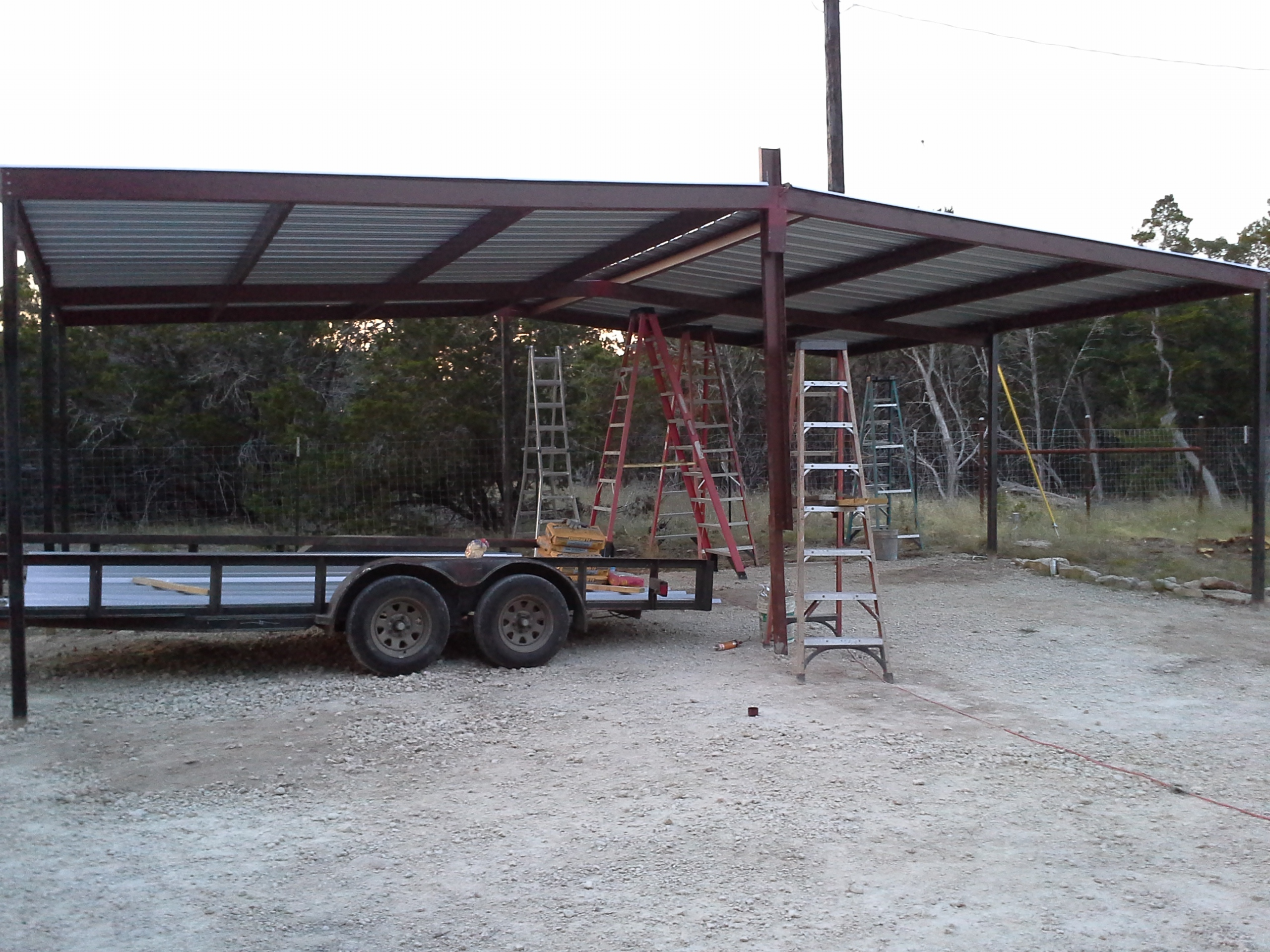 Lean To Carport : Gabled carport and lean to awning wimberly texas