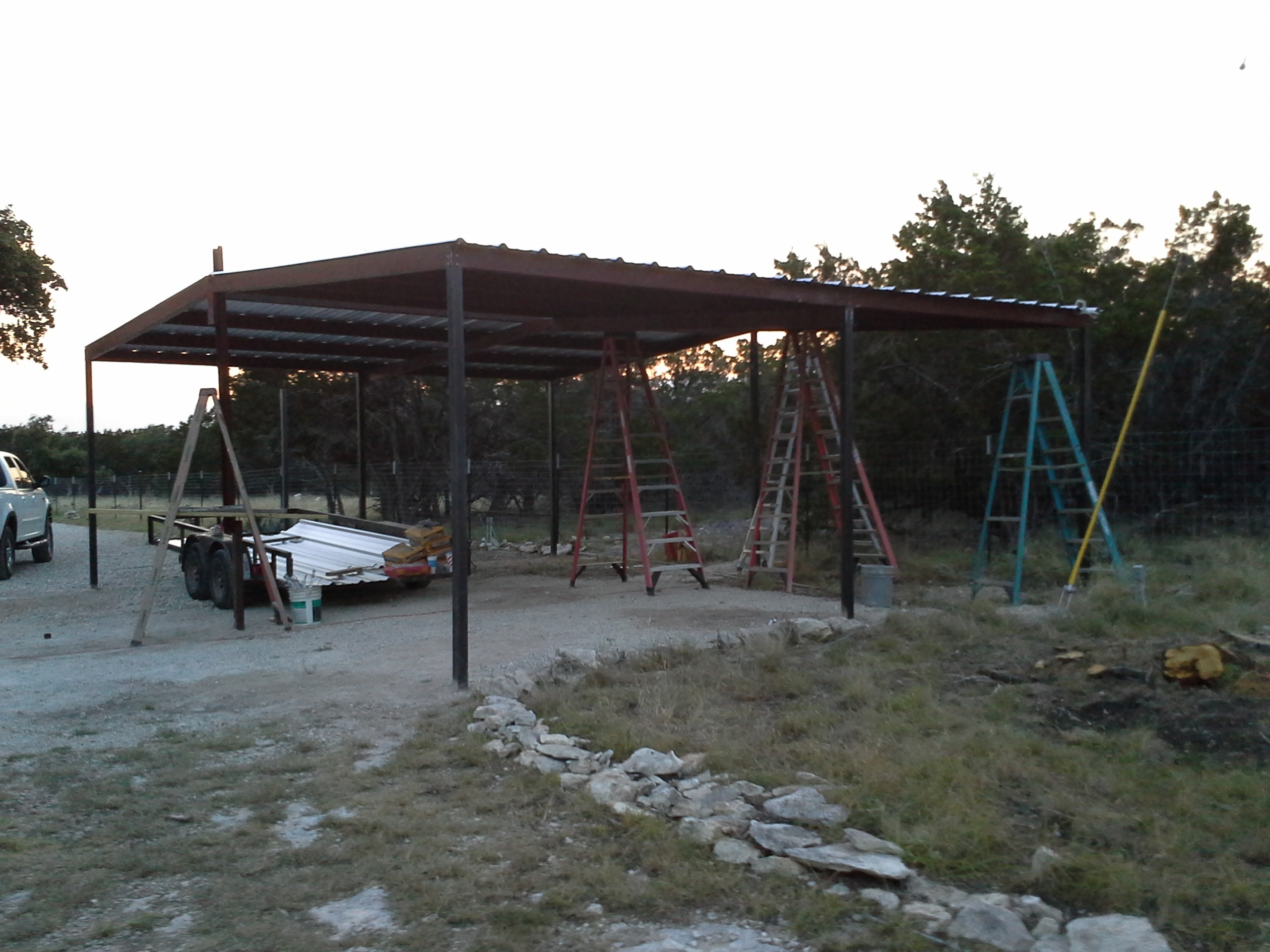 gabled carport and lean to awning wimberly texas. Black Bedroom Furniture Sets. Home Design Ideas