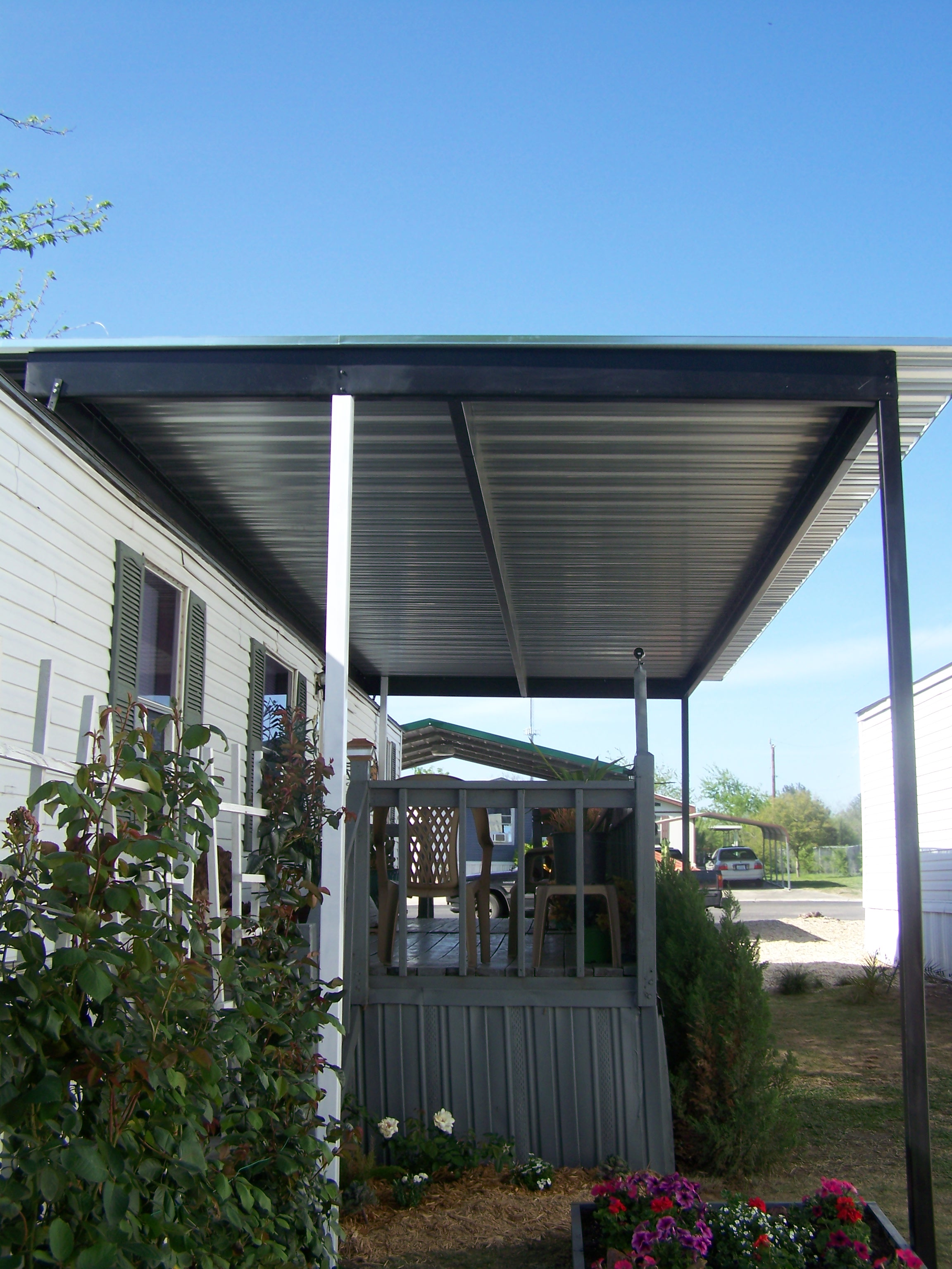 Manufactured Home Carports Awnings : Custom patio cover for mobile home windcrest texas