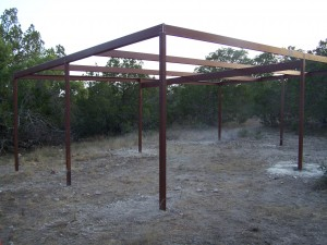 Custom All Steel Pole Barn, Pipe Creek, Texas