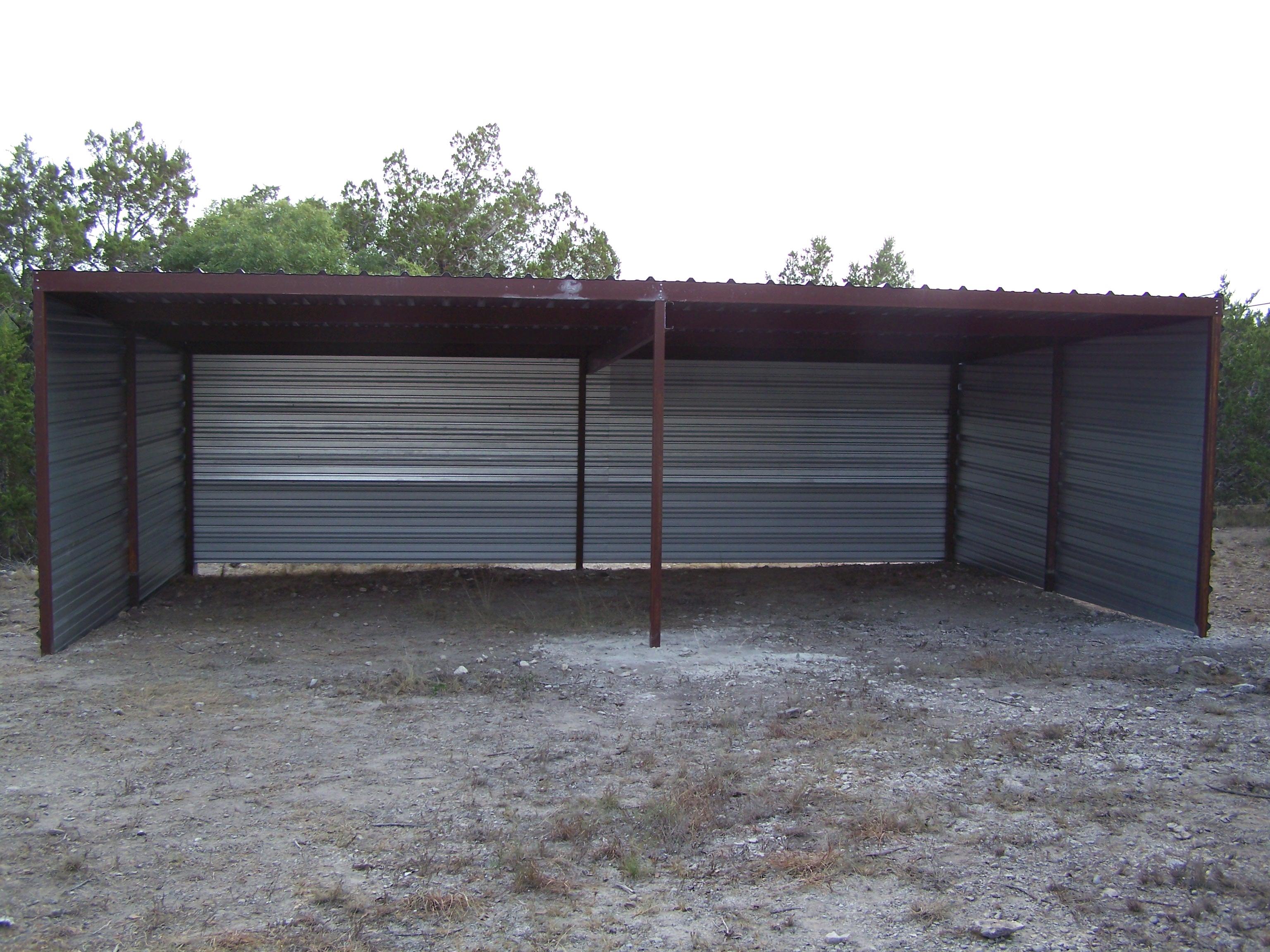 Custom All Steel Pole Barn Pipe Creek Texas Carport
